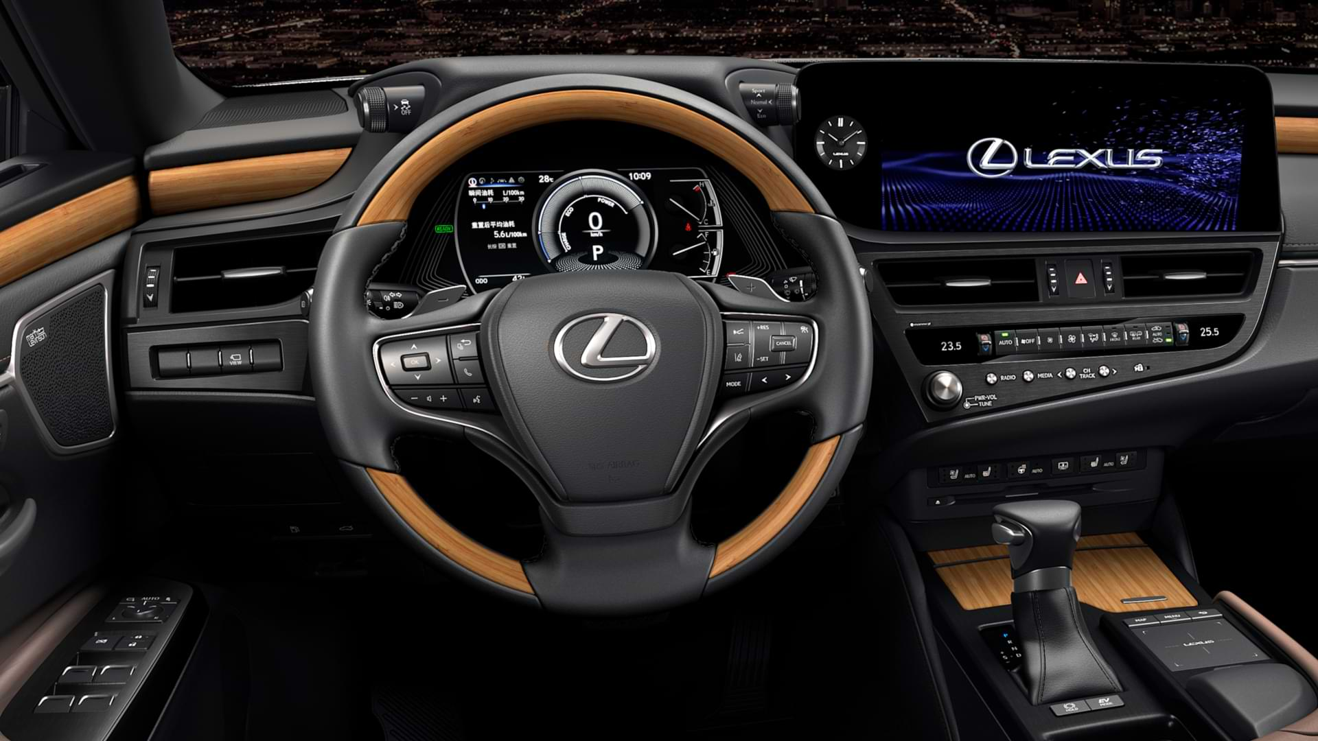Steering wheel and dashboard of 2021 Lexus ES
