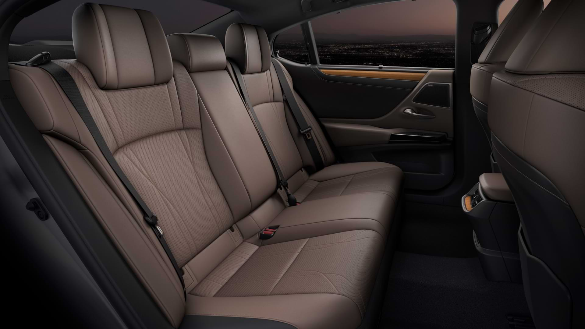 Backseats of 2021 Lexus ES