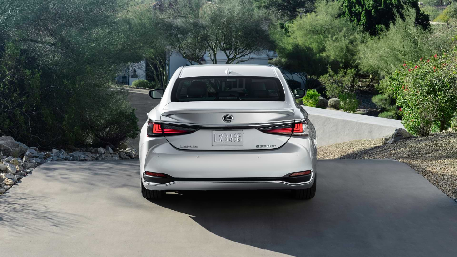 Rear view of New ES